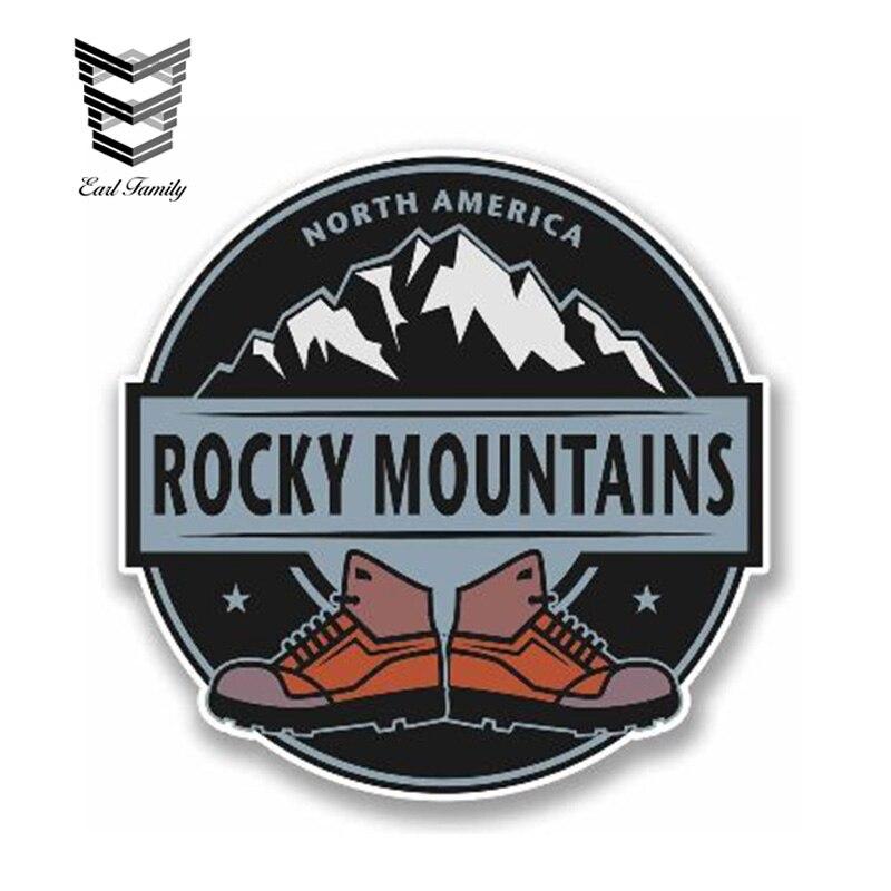 EARLFAMILY 13cm x 13cm araba Sticker kayalık dağlar vinil yapışkan kuzey amerika dizüstü seyahat bagaj su geçirmez araba Styling