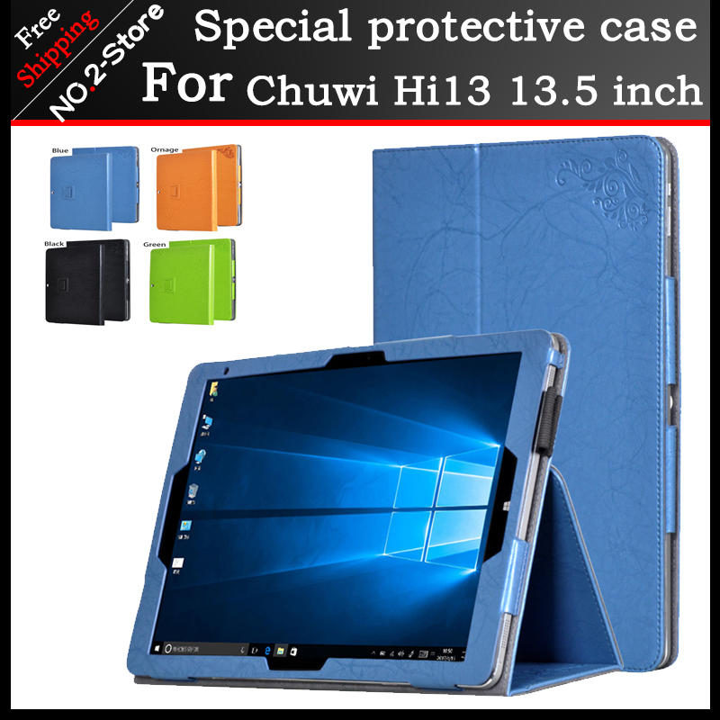 Fashion Print Patterns Folding Folio Cases For Chuwi Hi13, Magnet Stand case For chuwi hi13 13.5 inch tablet PC+gift