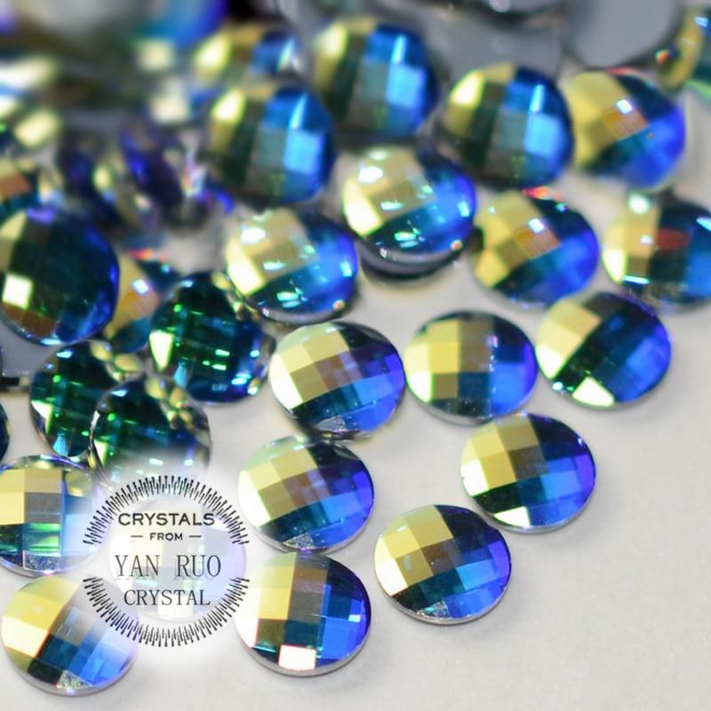 YANRUO 72 piezas 6 mm, 8 mm ORIGINAL Crystal Elements AB Chessboard - Arte de uñas - foto 5
