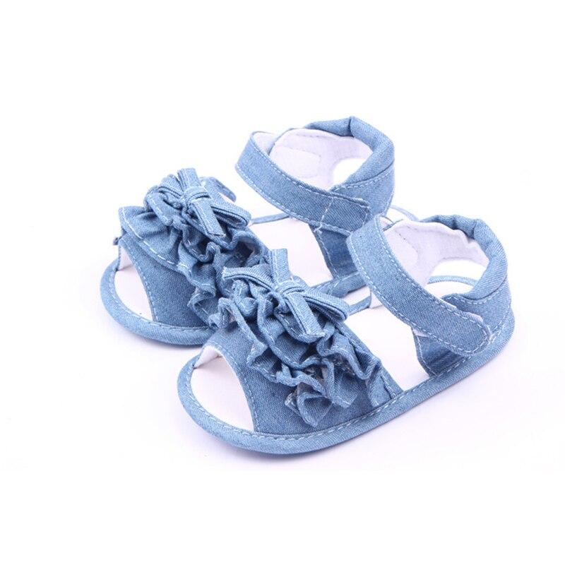 DreamShining Verano Zapatos de Lona Suela Blanda Primeros Caminante Del Bebé Lin