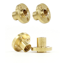 3D Printer Parts 20 pcs Brass Screw Nut for 8mm T8 Lead Threaded Rod 3D Printer Parts Z Axis T8 Lead Screw Nut for 3D Printers все цены