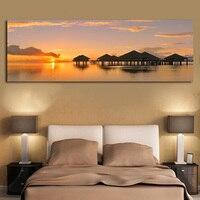 Tableau Sunrise природный пейзаж плакаты и принты на холсте скандинавские современные настенные картины для декора гостиной кровати комнаты