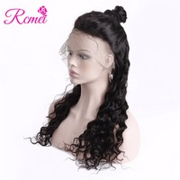 Rcmei Loose Wave Full Lace Human Hair Wigs Pre Plucked Natural Hairline With Baby Hair 150% Density For Women Loose Wave Wigs