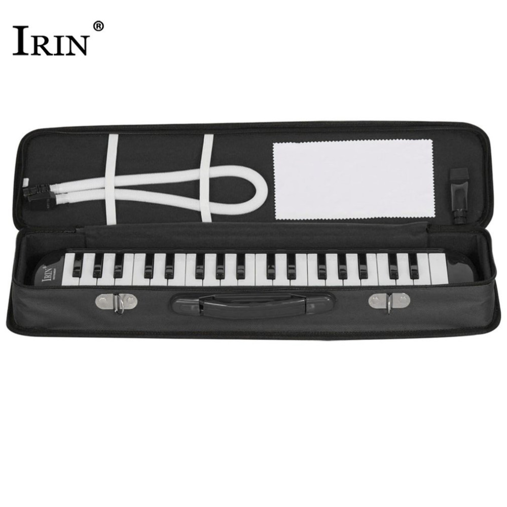 IRIN 37 Piano Style Keys Melodica With Hard Storage Case Children Students Musical Instrument Harmonica Mouth Organ Hot цена
