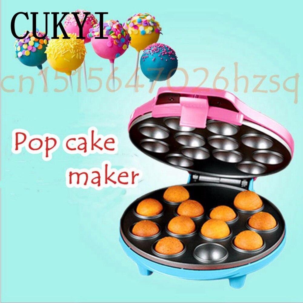 cukyi pop cake maker with 12 cake pop capacity babycakes mini machine 220v octopus small ball. Black Bedroom Furniture Sets. Home Design Ideas