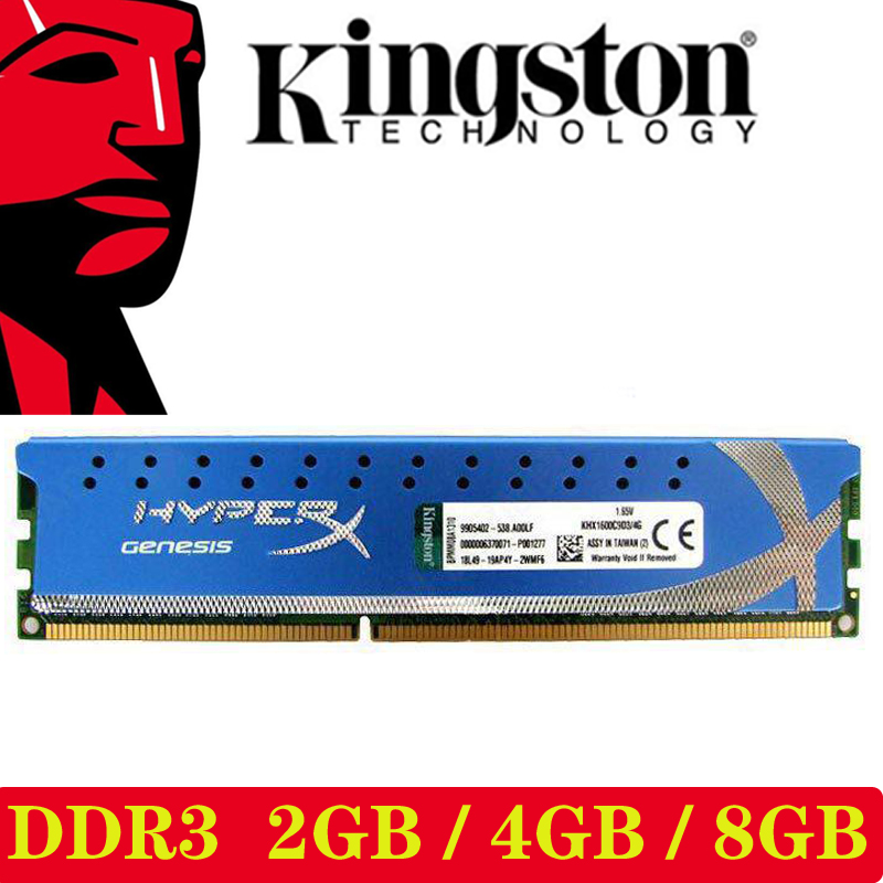 Module mémoire PC Kingston HyperX mémoire RAM Memoria ordinateur de bureau 2 GB 4 GB DDR3 PC3 10600 12800 1333 MHZ 1600 MHZ 2G 4G 1333 1600 MHZ