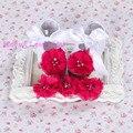 Boutique del bebé mocasines niño ; primer caminante zapatos de bebé marca chicas diadema set ; bebés recién nacidos zapatos de bautizo, bebé tenis