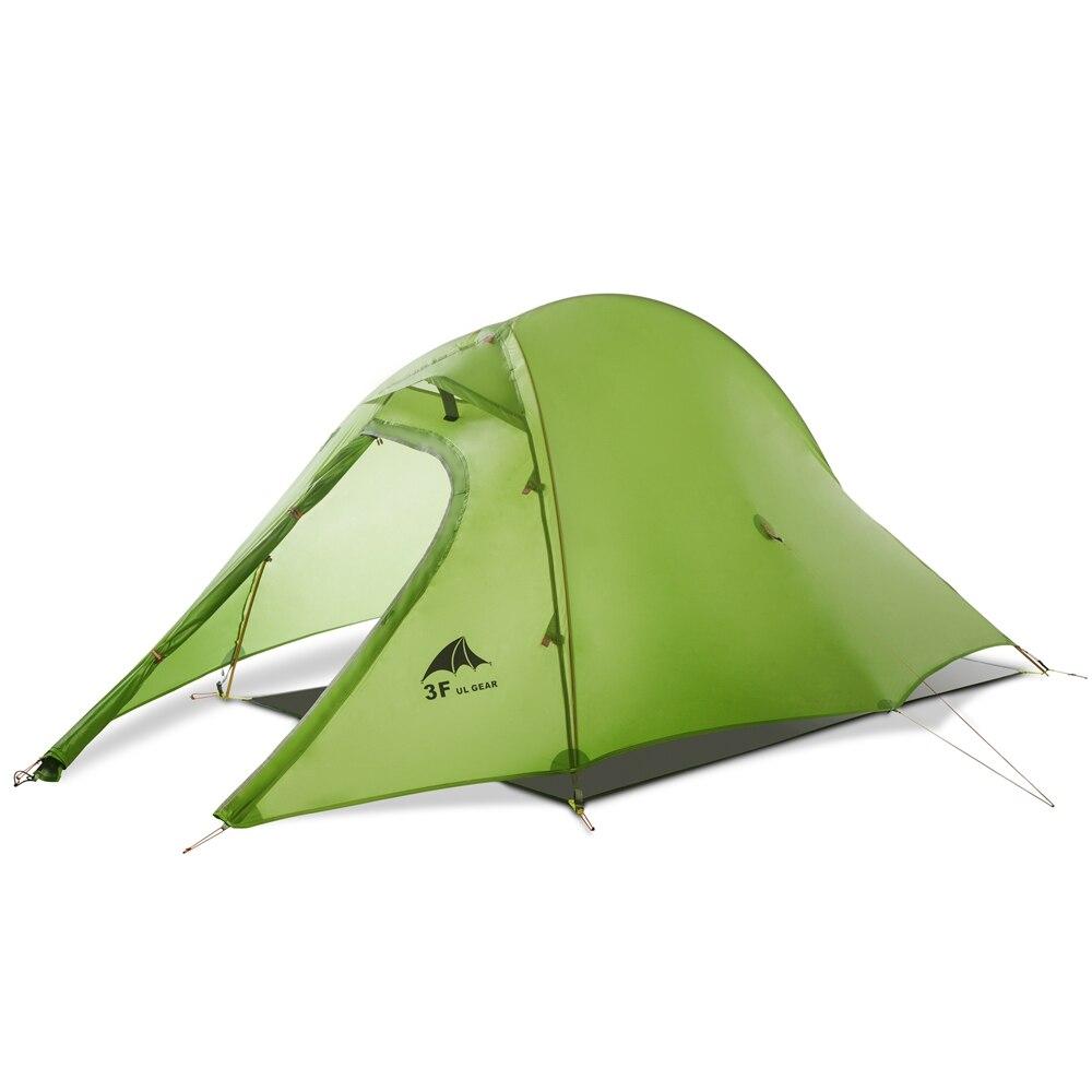 3F UL Getriebe Wasserdicht 2 Person Backpacking Selbst Stehenden Zelt Ultraleicht 15D Silikon 2 Mann 3 4 Saison Für Camping doppel Schichten