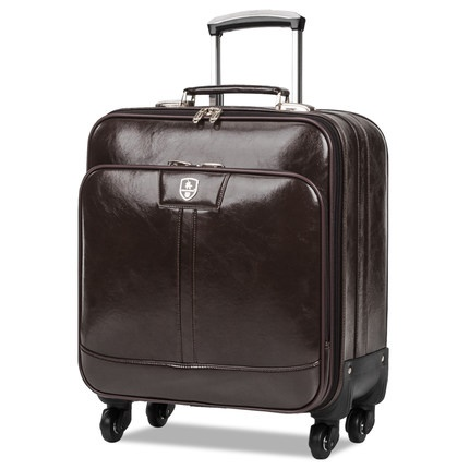Mens business PU Leather Travel Suitcase Vintage Luggage Travel Bag Universal Wheels Trolley Rolling LuggageMens business PU Leather Travel Suitcase Vintage Luggage Travel Bag Universal Wheels Trolley Rolling Luggage