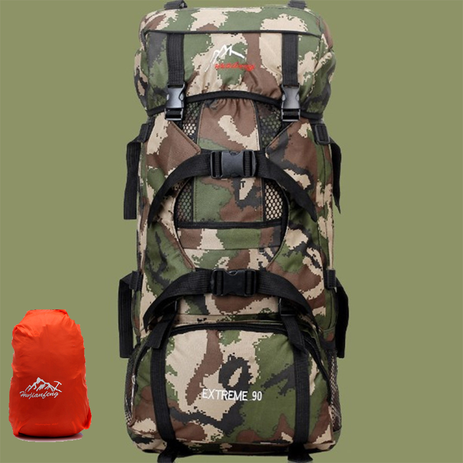 fd7cd2d5d747 Aliexpress.com   Buy 90L Large Capacity Outdoor Backpacks Multipurpose  Military Camping Hiking Bag Big Travel Mountaineering Climbing Package from  Reliable ...