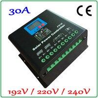 solar cells Solar Panel Battery Charge Regulator 192V or 220V or 240V high voltage solar charge controller 30A LCD Display