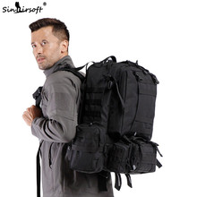 9 Colors! New! 50L Molle High Capacity Tactical Backpack Assault Outdoor Military Rucksacks Backpack Camping Hunting Bag