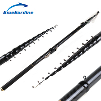 BlueSardine New Design Telescopic Fishing Rod Stream Hand Carbon Fiber Casting Lightweight Toughness Spinning Rods