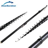 BlueSardine New Design Telescopic Fishing Rod Stream Hand Carbon Fiber Casting Lightweight Toughness Spinning Rods