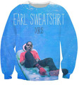 Lol look u got Earl Sweatshirt Women Men BlueA man was lying on the couch 3D Print Hoodies Crewneck Pullover Outfits