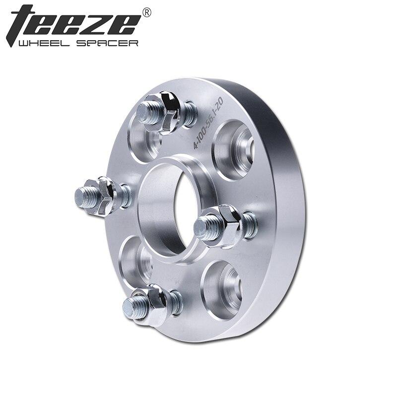 Teèze-(1 PC) voiture style 4x100 entretoises de roue pour Solaris 25mm adaptateur de roue 4x100mm CB 54.1mm entretoises de roue en alliage d'aluminium