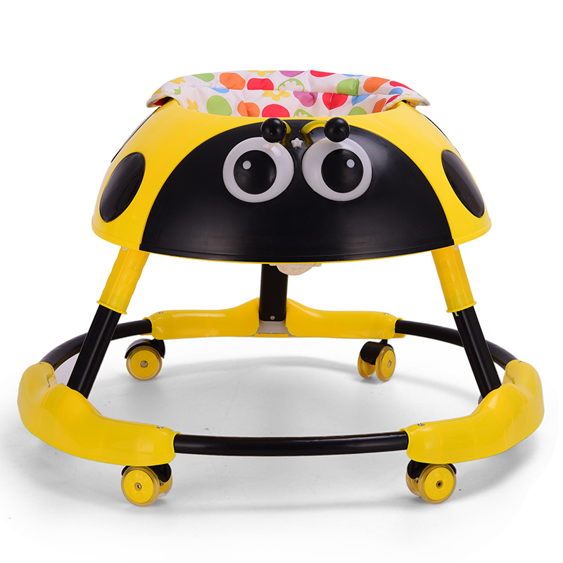 Baby Walker Balance Car   Anti-rollover 6-18 Months Multi-functional Folding With Music Light Trolley