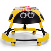 baby walker balance car anti rollover 6 18 months multi functional folding with music light trolley