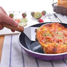 Kitchen Spatula Wooden Handle Grill Turner Stainless Steel Metal Scrape For Pancake Teppanyaki Hibachi Griddle  Cooking Utensil
