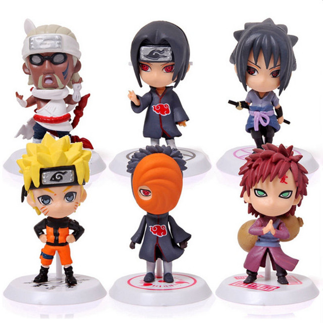 Hot Classic Figurine 6pcs/set Naruto PVC Action Figure Toys Full Set Model Collection Toys For Kids Cute Naruto Gaara WX170A