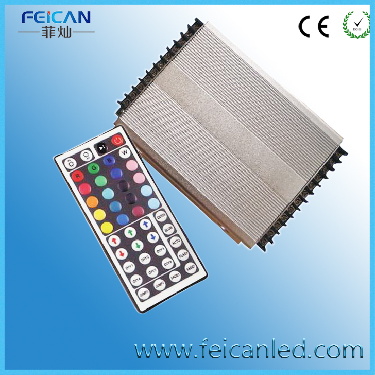Free Shipping High Power IR 44 Keys LED RGB Controller 3channel *40A/CH ,1440W For RGB 5050 3528 Led rgb controller 3w led rgb high power led lamp bulbs rgb six legs 350ma 3 2 3 4v taiwan genesis hpo chips free shipping