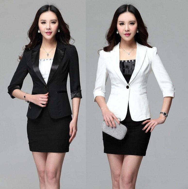 Spring Summer 2015 Uniform Design Female Office Suits Tops