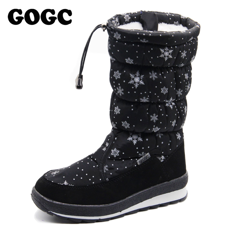 GOGC Russian Famous Brand 2018 Women Winter Boots High Quality Women's Winter Shoes Female Snow Boots Comfortable Women's Shoes
