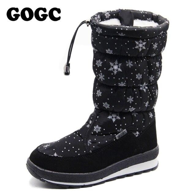 Gogc russa famosa marca 2017 mulheres botas de inverno de alta qualidade das mulheres sapatos de inverno botas de neve femininas das mulheres confortáveis sapatos