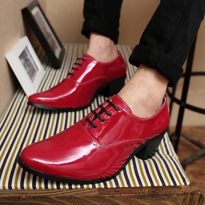 Zapatos rojos formales para hombre 5JmZLDF