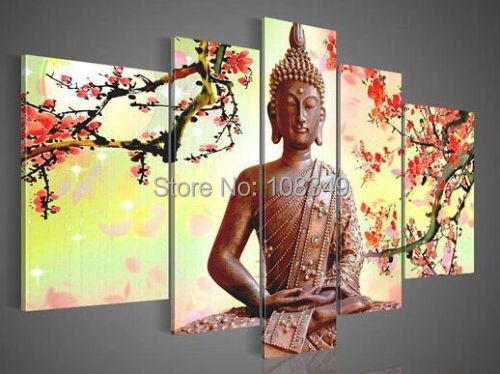 Dipinti Murali E Pittura Ad Ago : ᐃpittura a olio dipinta a mano classico buddha dipinti ad alta q