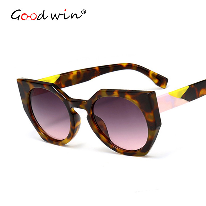 GOOD WIN 2018 Luxury Brand Designer FF Facets Sunglasses Women Vintage Tortoise Spotted  ...