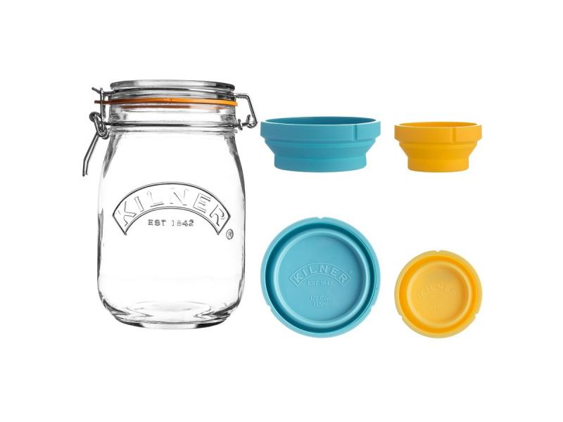 Storage jar KILNER, 1 L, with мерными Bowl double ear bowl with lid