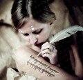 2 folhas DIY o senhor dos anéis Ssamath palavras de sombra tatuagens etiqueta impermeável tatuagem temporária body art