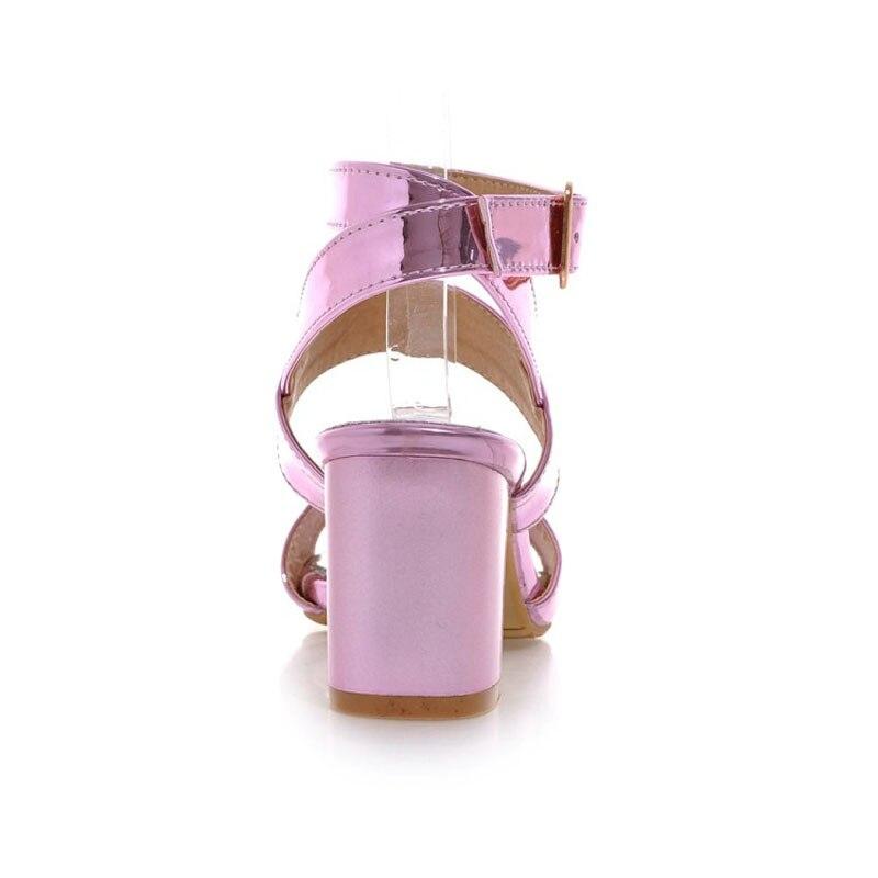 pink silver Boucle F96 Pompes Gladiateur Rose Femmes Sandales F96 Sangle Talons Casual Gold 33 Argent 43 Chaussures D'été Grande Hauts F96 À Femme Taille Or Plateforme SqfBxgPW