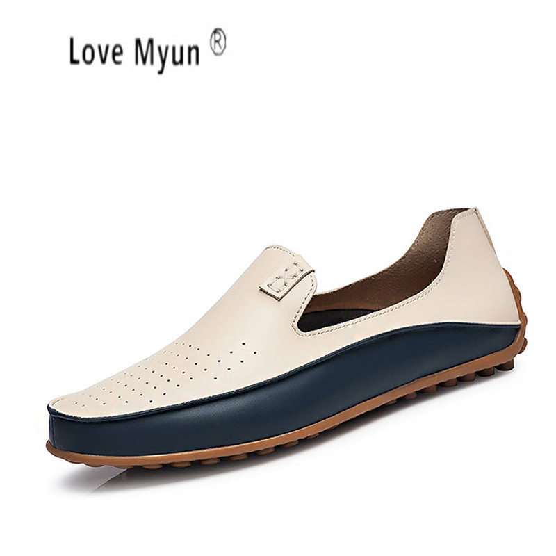 Brand Summer Causal Shoes Men Loafers Genuine Leather Moccasins Men Driving Shoes High Quality Flats For Man size 36-47 summer causal shoes men loafers genuine leather moccasins men driving shoes high quality flats for man