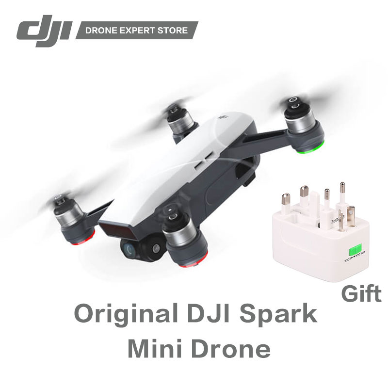 Original DJI Spark Quadcopter Portable Drone with Gesture Control Wifi FPV 1/2.3 inches Sensor Panorama Photography 1080P Video drone dji spark fly more combo 1080p new mini portable fpv drone dji quadcopter 100% original