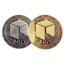 NEO Виртуальная памятная монета покрытая золотом и серебром Volor NEO виртуальная валюта для коллекции монет диаметром 40 мм
