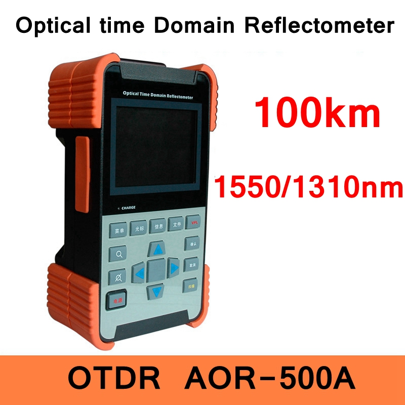 OTDR AOR-500A Optical Time Domain Reflectometer 100KM 1550/1310nm wavelength FC adapter ST LC SC optional CE ROHS certificates replacement for optical time domain reflectometer mts 5100e mts 5000 ftb 100 ftb 400 otdr battery