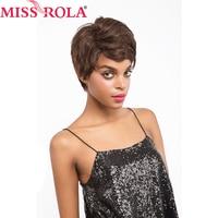 Miss Rola Hair Brazilian Straight Hair #2 Color Short Human Hair Wigs For Black Women Free Shipping 64g/pc