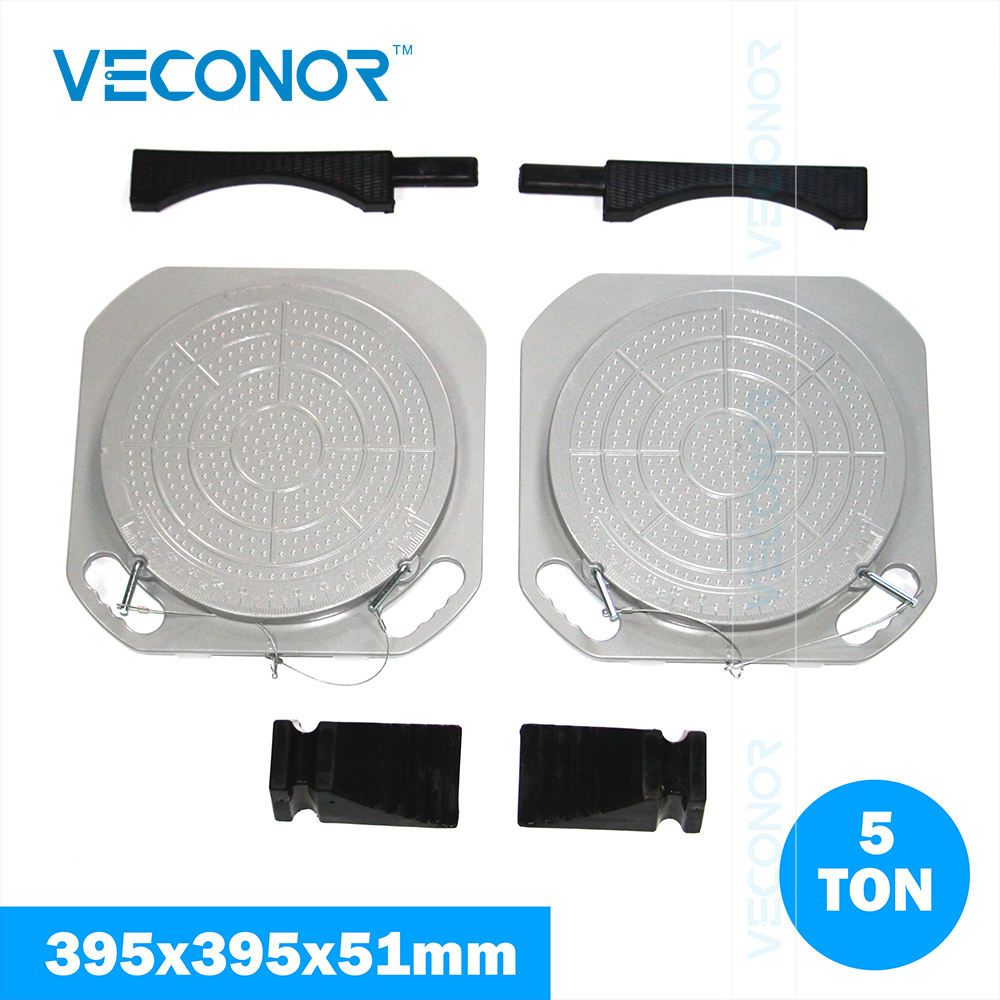 Veconor wheel alignment system turnplates car light truck turn tables radius plates with scale 5 ton load capacity