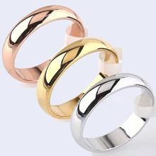 Couple Rings Titanium Steel Rose Gold Anti-allergy Smooth Simple For Women Men Valentine's Day Jewelry Gift Hot Sale Size 6-12(China)