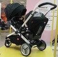 Buen chico gemelos cochecito de bebé de múltiples funciones ajustable carritos de bebé cochecito de bebé cochecito con automóvil bb566