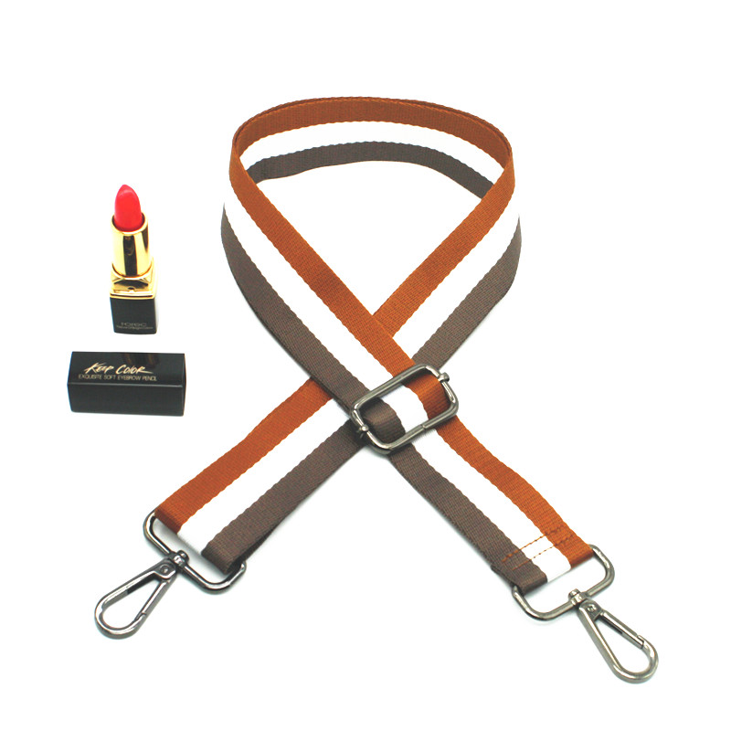 Bag Strap Nylon Colorful Stripe National Shoulder Cross body Band Adjustable Belt for Handbag Handles DIY Accessories KZ1001 in Bag Parts Accessories from Luggage Bags