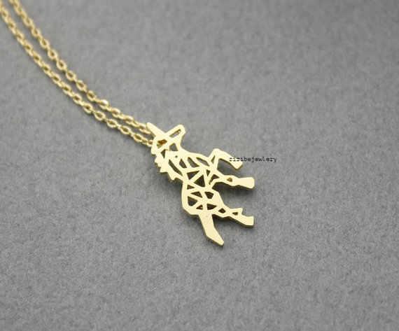 البابونج 30 قطعة/الوحدة الذهب الفضة جميلة يونيكورن الحصان قلادة للنساء أفضل صديق هدية يونيكورن الحصان قلادة