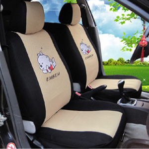 Image 2 - 12pcs Cartoon Car Seat Cover Universal Sandwish Auto Seats Protector Breathable Automobil Interior Cushion Accessories for Girls