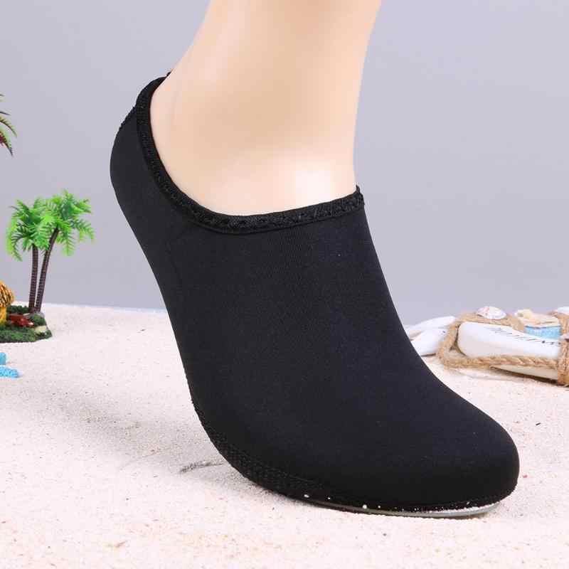 ว่ายน้ำ Aqua รองเท้าผู้ชายผู้หญิงชายหาดรองเท้า Quick-dry Unisex ฤดูร้อน Aqua รองเท้าผ้าใบถุงเท้าดำน้ำรองเท้าผ้าใบกันลื่น