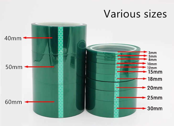 ホット 8 ミリメートル × 33 メートル耐熱 Pet 高温グリーンマスキングシールドテープ pcb はんだめっき絶縁保護
