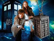 New movie Doctor dr who necklace drop shipping 1pcs/lot ancient silver TARDIS blue box chain pendant steampunk dw life fans gift