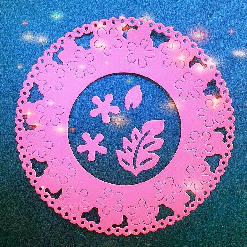 SCD857 Metal Cutting Dies For Scrapbooking Stencils Flower Circle DIY Cut Album Cards Decoration Embossing Folder Die Cuts Tools in Cutting Dies from Home Garden