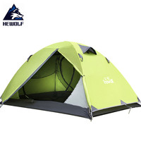 Hewolf Outdoor Camping Tents Ultralight Waterproof Double Layer Aluminum Pole Hunting Fishing Cycling Hiking Beach Hiking Tents